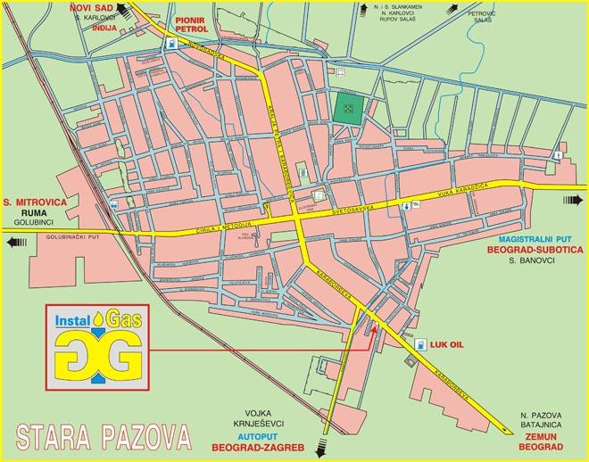 stara pazova mapa Gasne Instalacije :: Kontakt :: Instal Gas, Stara Pazova stara pazova mapa